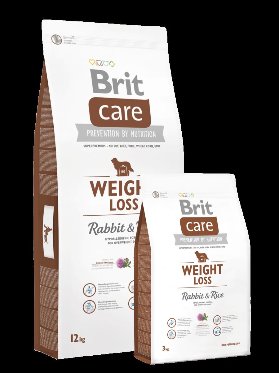 pic Brit Care Weight Loss jäneseliha ja riisiga