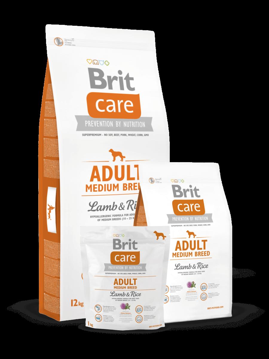pic Brit Care adult medium breed lambaliha ja riisiga