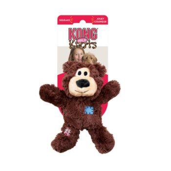 pic kong wild knots bears piiksuv mänguasi koertele, pruun